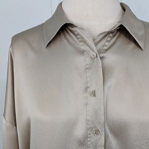ebf48f30f99ef2 Eileen Fisher Tops - Eileen Fisher Gold Silk Button Up XS J5